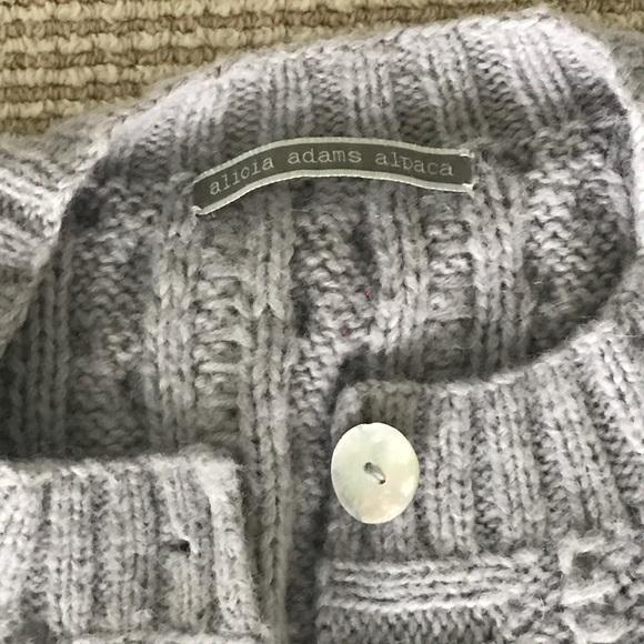 alicia adams alpaca Sweaters - Knit button down cardigan sweater